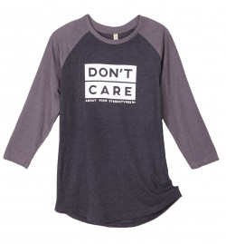 Baseballshirt (unisex) DON'T CARE